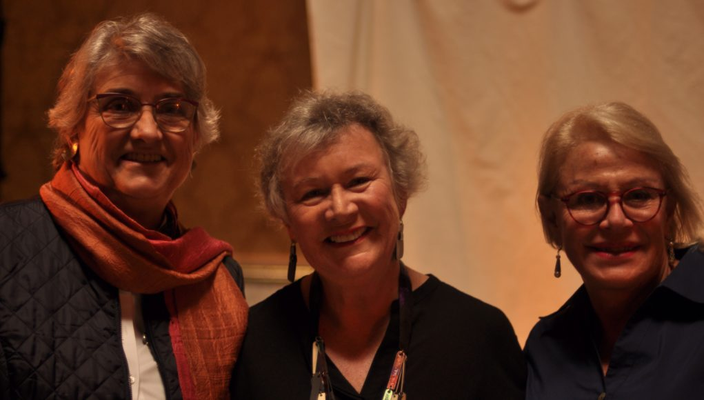 Presidente de GCA : Christine Raffo, directora de LAZOS : Diana Dodd, Presidente de The Garden Clubs of Uruguay: Silvia Barabino,